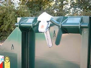 Diebstahlsicherung für Abrollcontainer